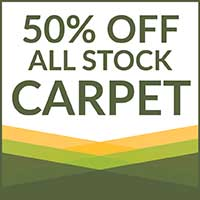 No through June 30th, receive 50% off all stock carpet! Visit Butler Floor & Carpet today!