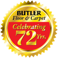 Great savings on flooring during our 72nd Anniversary Sale at Butler Floor & Carpet